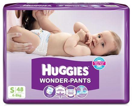 Huggies Wonder Pants Baby Diapers, S 48 Pieces