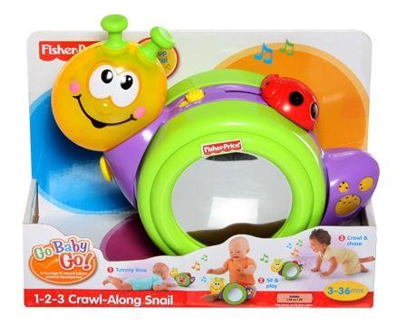 Fisher-Price - Go Baby Go - 1-2-3 Crawl-Along Snail