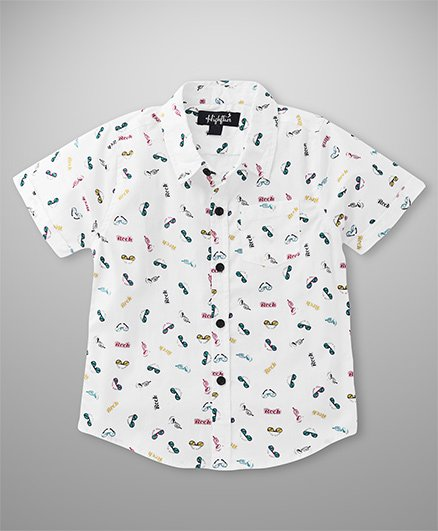 Highflier Rock Printed Shirt - White