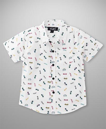 Highflier Rock Printed Shirt - White