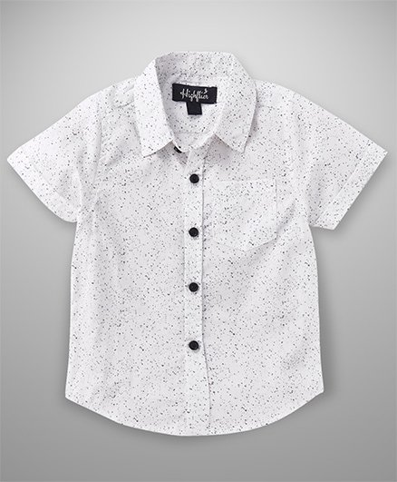 Highflier Printed Casual Shirt - White