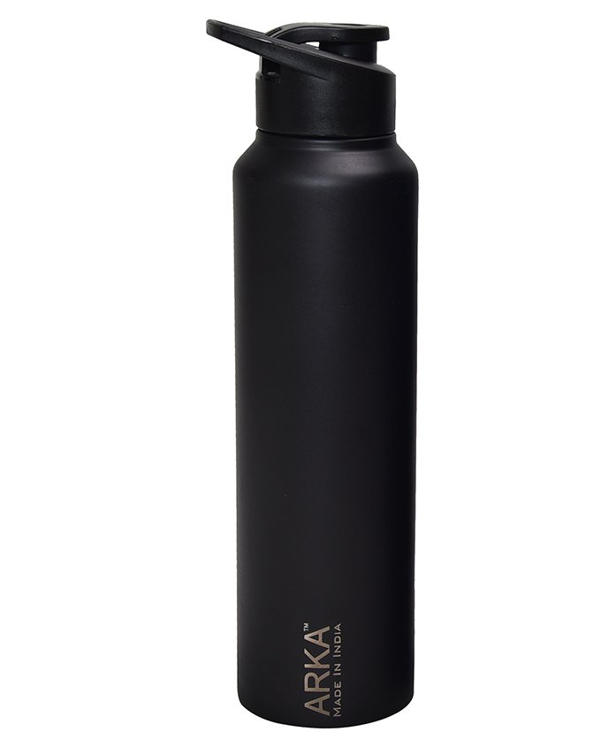 Pexpo Chromo Sipper Bottle Matt Black - 1000 ml