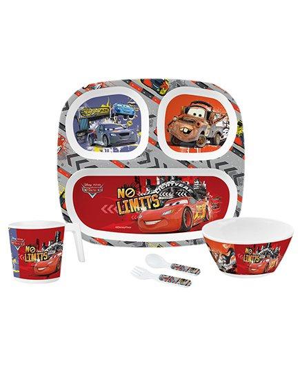 Servewell Kids Feeding Set Disney Pixar Cars Print Red - Pack Of 5