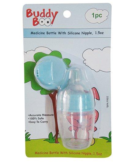 Buddyboo Medicine Bottle With Silicone Nipple Blue - 44.3 ml