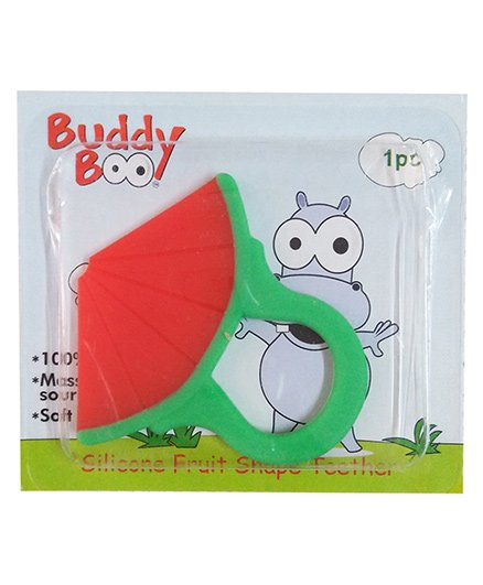 Buddyboo Silicone Water Melon Shape Teether - Red