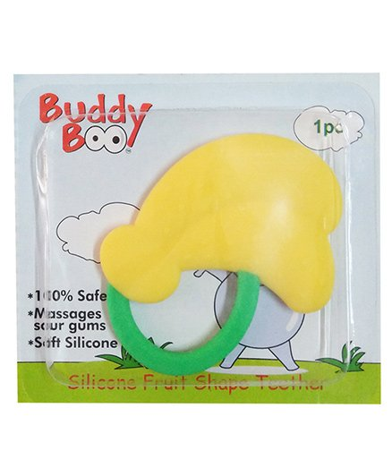 Buddyboo Silicone Fruit Shape Teether - Yellow