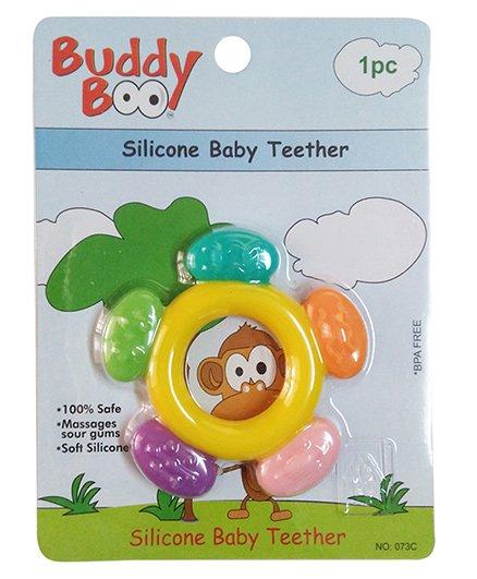 Buddyboo Circle Shaped Silicone Baby Teether - Yellow