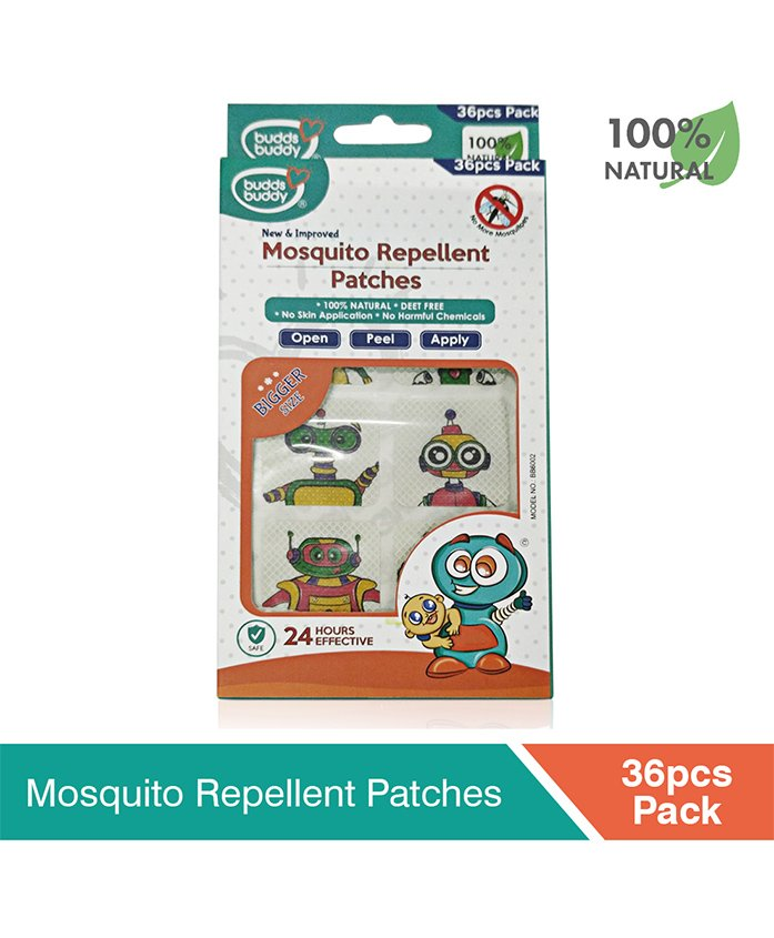 Buddsbuddy Mosquito Repellent Patch White - 36 Pieces