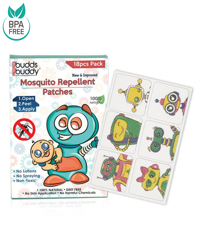 Buddsbuddy Mosquito Repellent Patch For Kids Blue - 18 Pieces