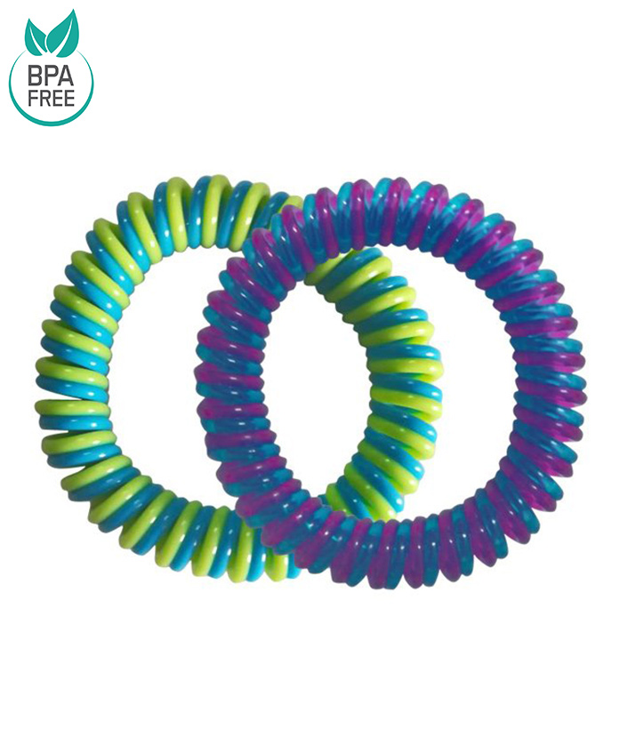 Buddsbuddy Insect Repellent Band Pack Of 2 - Purple & Green