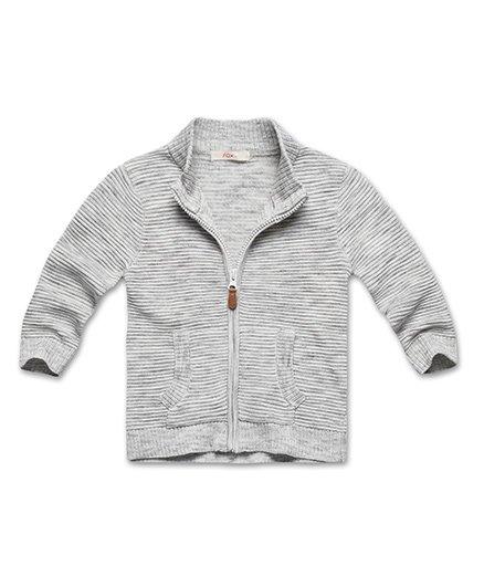 Fox Baby Full Sleeve Sweat Jacket - Grey