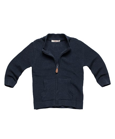 Fox Baby Full Sleeves Sweat Jackets - Blue