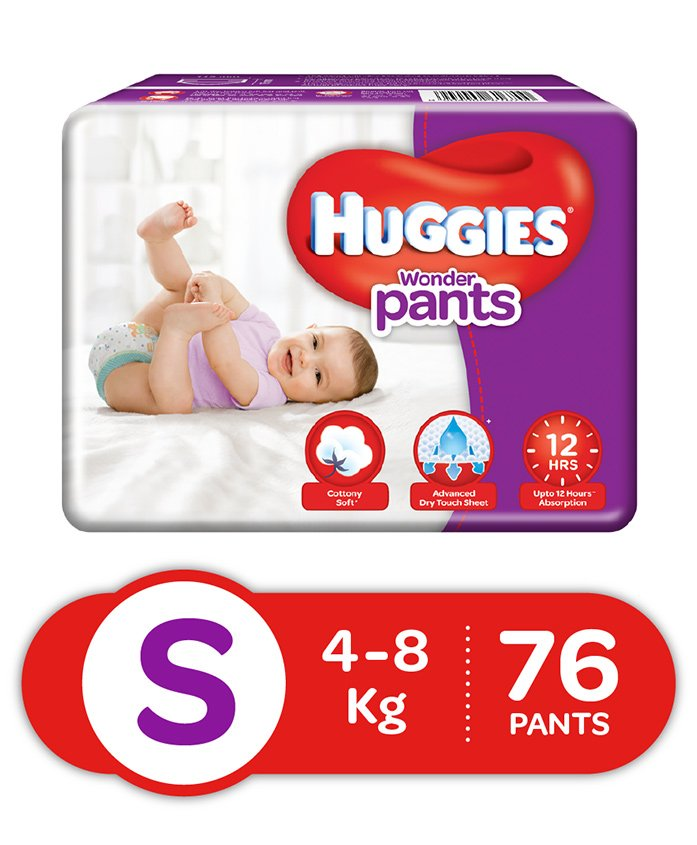 Huggies Wonder Pants S Diapers (76 Pieces)