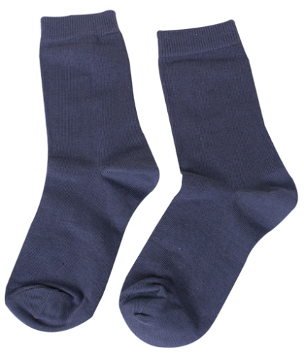 Mustang Solid Color School Socks - Grey