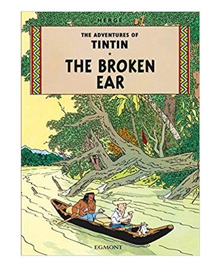 Tintin The Broken Ear Green - English