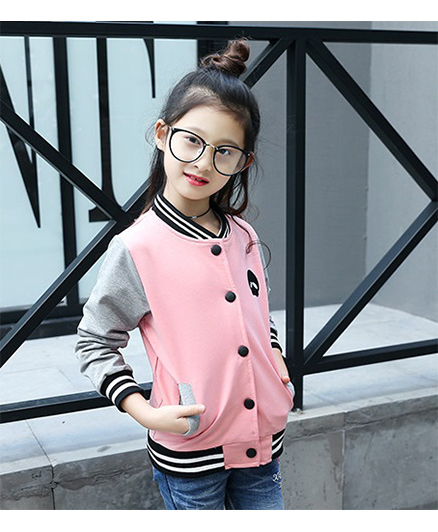 Pre Order - Superfie Double Colored Buttoned Jacket - Pink