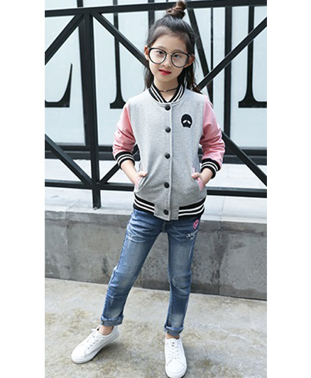 Pre Order - Superfie Double Colored Buttoned Jacket - Grey