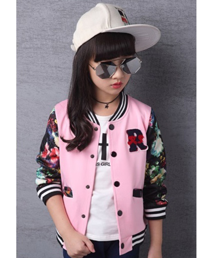 Pre Order - Superfie Multicolored Buttoned Jacket - Pink