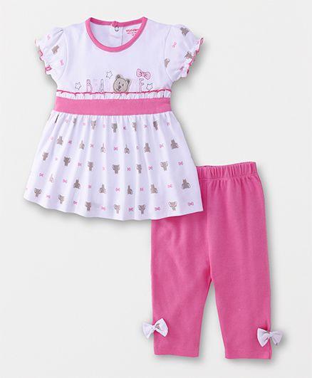 Wonderchild Dress With Pyajama - Pink