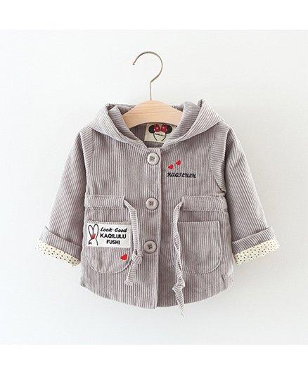 Pre Order - Awabox Cute Hooded Jacket - Gray