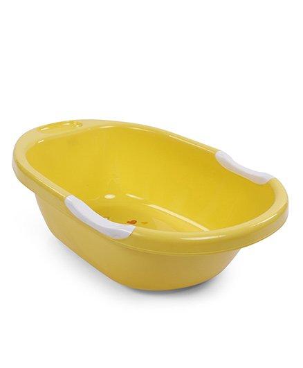 Baby Bath Tub Happy Baby Print - Yellow
