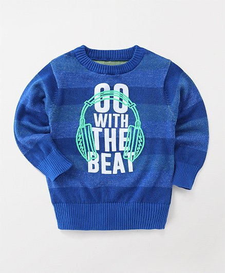 Little Kangaroos Full Sleeves Sweatshirt Printed - Blue