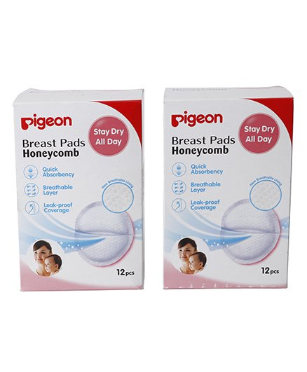 Pigeon Breast Pads Honeycomb 12 Pieces - Pack Of 2