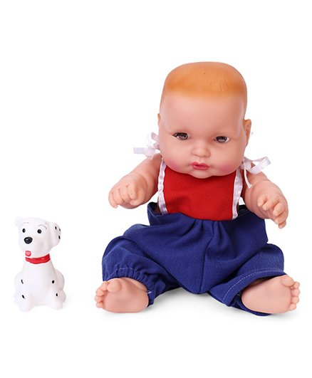 Speedage Cute Baby Doll With Pet Red Blue - 21 cm