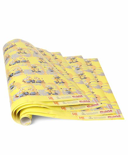 Minnions Printed Gift Wrapper Pack Of 5 - Yellow