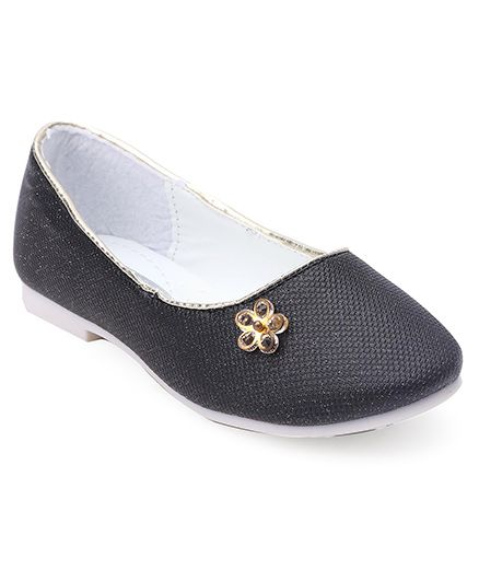 Cute Walk by Babyhug Ballerinas Diamond In Flower Motif - Black