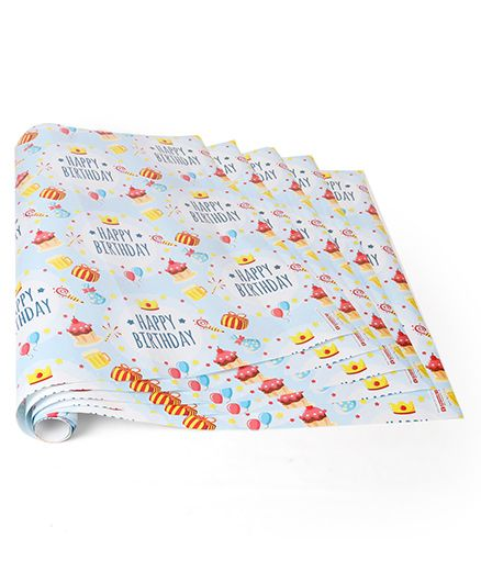 Disney Gift Wrapper Code-18 Blue - 5 Wrapper