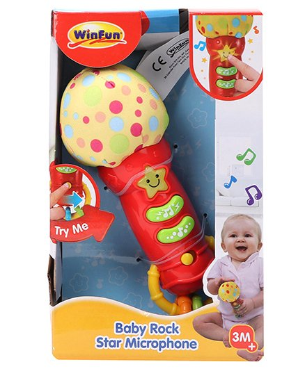 Winfun Baby Rock Star Microphone - Red Yellow