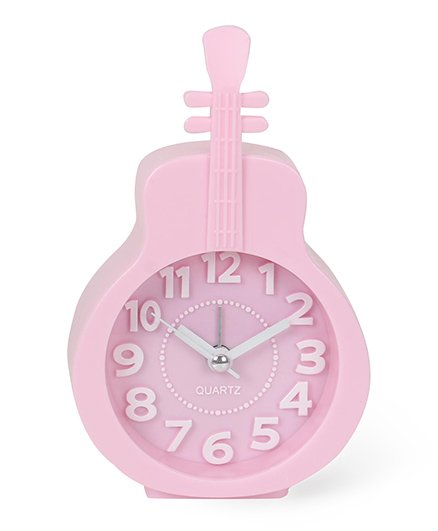 Guitar Shaped Alarm Clock - Pink