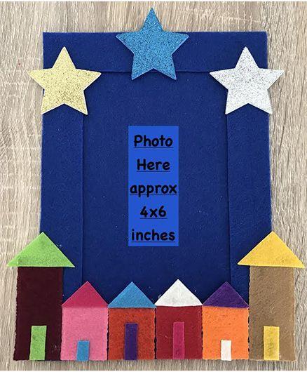 Kalacaree Home Sweet Home Theme Magnetic Photo Frame - Blue
