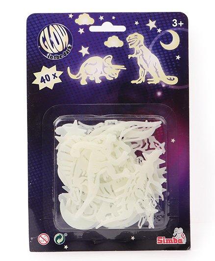 Simba Glow In Dark Dinosaur - White