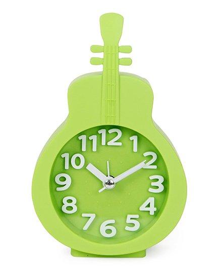 Guitar Shape Analog Alarm Clock - Green