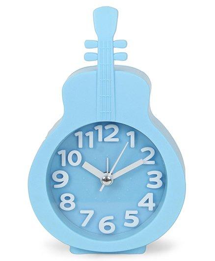Guitar Shape Analog Alarm Clock -Sky Blue