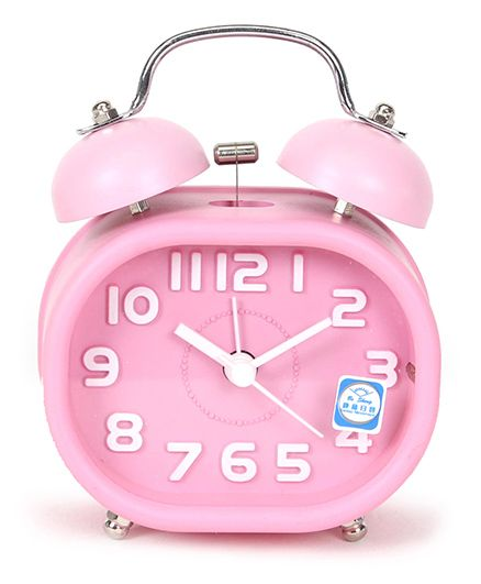 Twin Bell Analog Alarm Clock - Pink