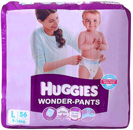 Huggies Wonder Pants Large - 56 pieces