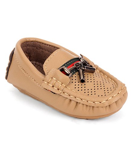 Cute Walk by Babyhug Loafer Shoes - Light Brown