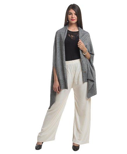 Pluchi Knitted Palma Poncho Wrap - Grey