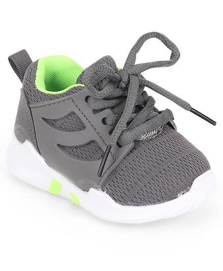 Cute Walk by Babyhug Lace Up Sports Shoes - Dark Grey