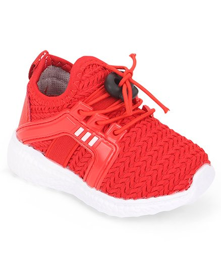 Cute Walk by Babyhug Lace Up Sports Shoes - Red