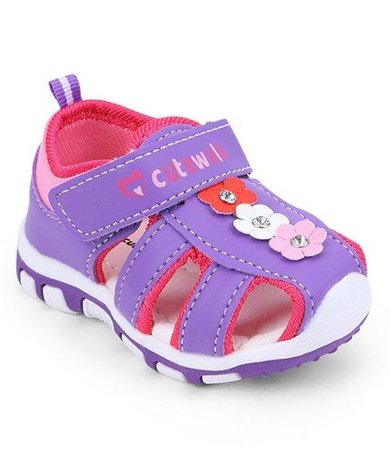 Cute Walk by Babyhug Sandals Floral Motifs - Purple