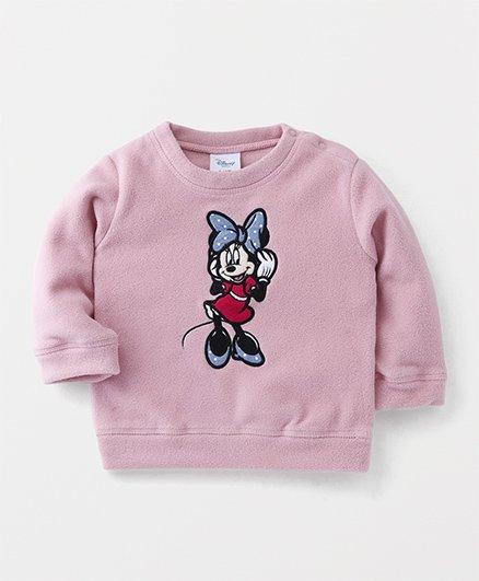 Fox Baby Full Sleeves Sweatshirt Minnie Print - Pink