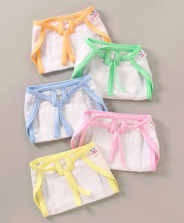 Tinycare Cloth Nappy String Tie Up Small - Set Of 5