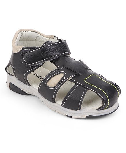 Cute Walk by Babyhug Sandals - Black