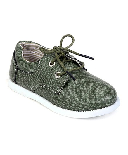 Cute Walk by Babyhug Party Wear Shoes - Green