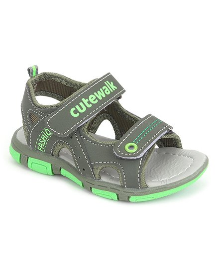 Cute Walk by Babyhug Sandals - Dark Green