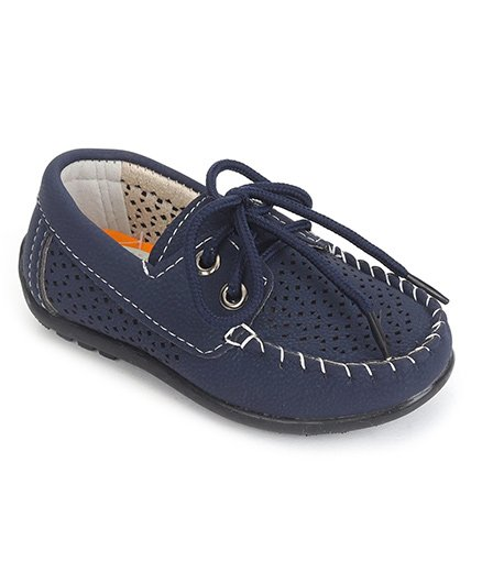 Cute Walk by Babyhug Slip-on Style Loafers - Navy Blue